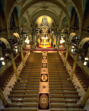 Photo of the interior of St. John Cantius, Chicago